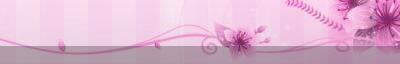 Ticker s podlogom pink-kocke-cvijet