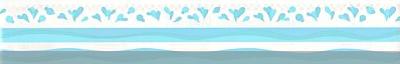 Ticker s podlogom plava-srca